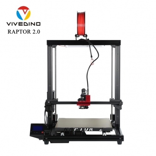 VIVEDINO Raptor 2+ Large 3D Printer with 400x400x500mm Build Size